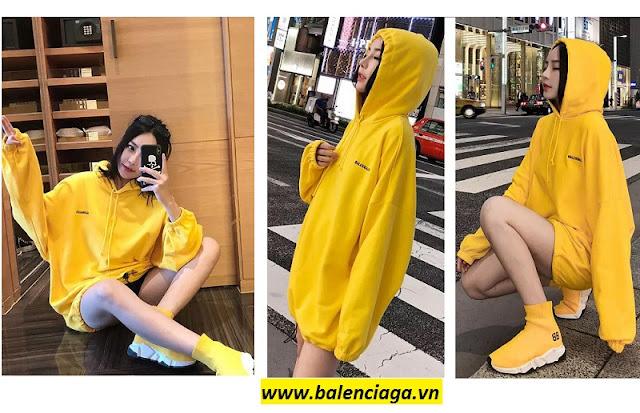 Thời trang nữ: Áo khoác nữ Balenciaga Hoodie yellow giá sale 53c60f204a5c72f79dd13e5dbf1961e2