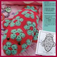 Ballena flor africana amigurumi