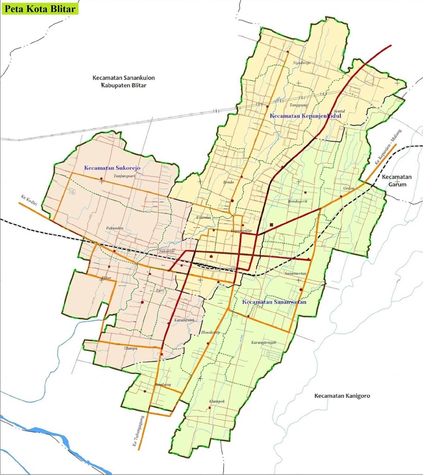 Peta Kota Blitar HD