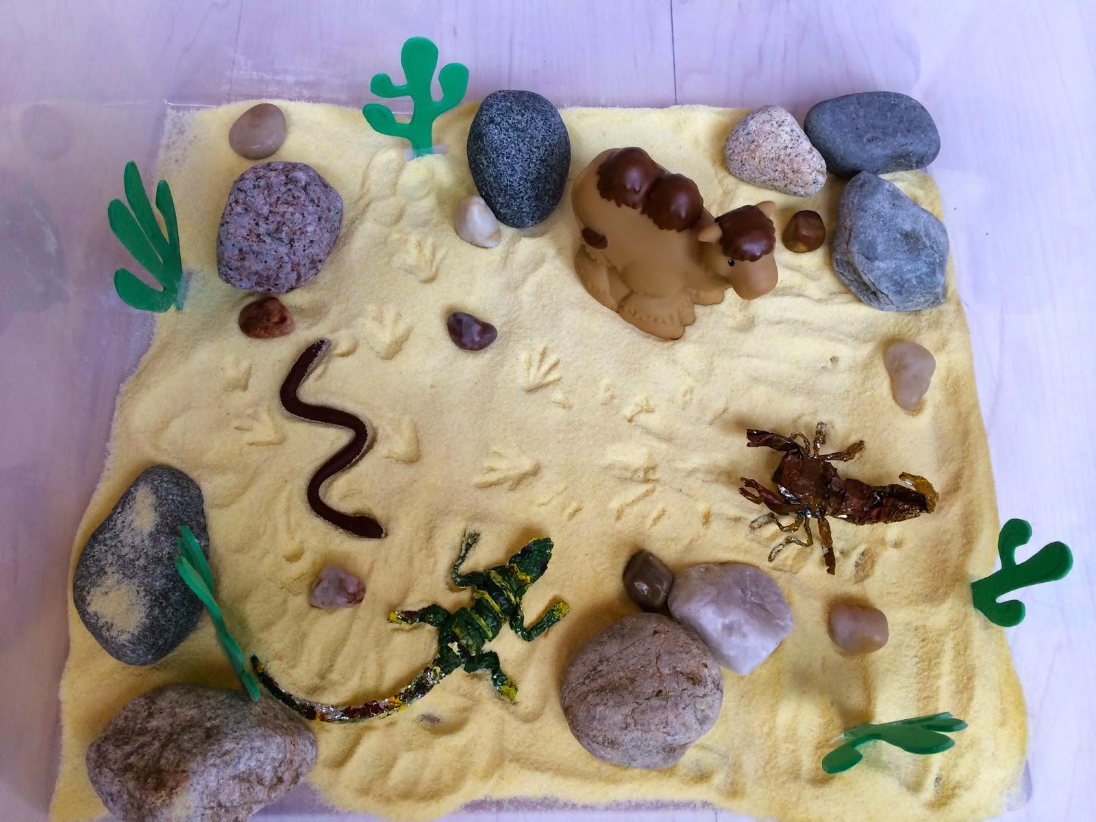 Creative Projects For Kids Desert Sensory Bin