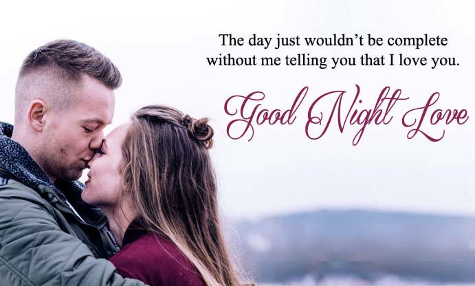 Romantic Good Night Kiss Image for Husband, Wife, Couples, Lovers