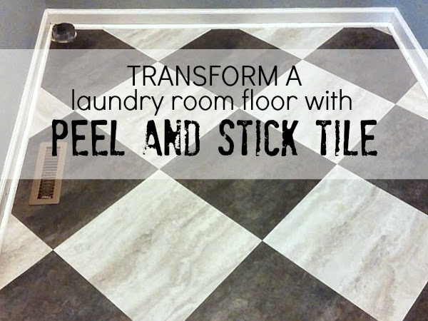 Transform a Laundry Room Floor (with Peel and Stick Tiles)