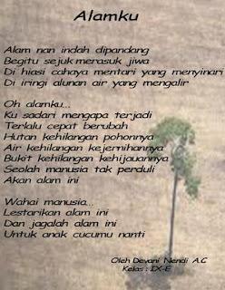 Contoh Puisi Tentang Alam
