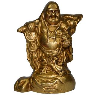 DronaCraft Feng Shui Brass Statue Laughing Buddha