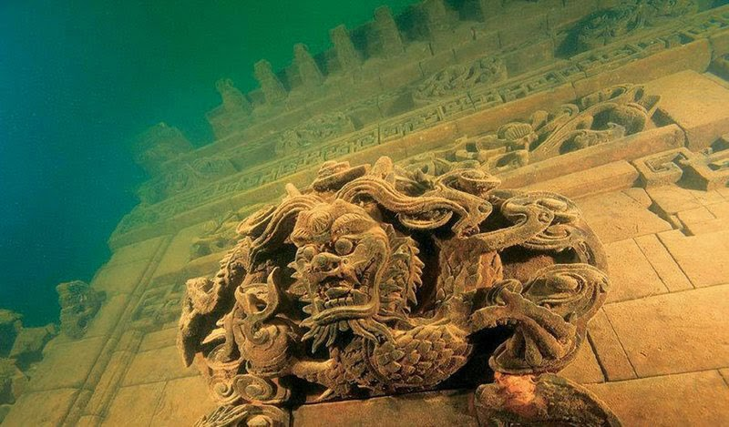 4. Lion City of Quiandao Lake, China - 5 Mind Blowing Underwater Cities