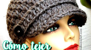Gorro con visera tejido a crochet / Tutorial
