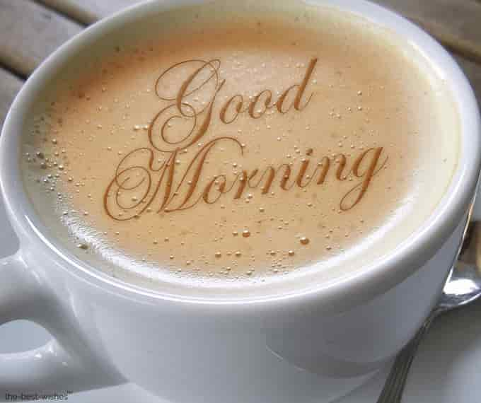 good morning wishes images with coffee