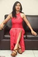 Sakshi Kakkar in Red Legsplit Sleeveless Gown at Dare movie Press meet ~  Exclusive 076.JPG