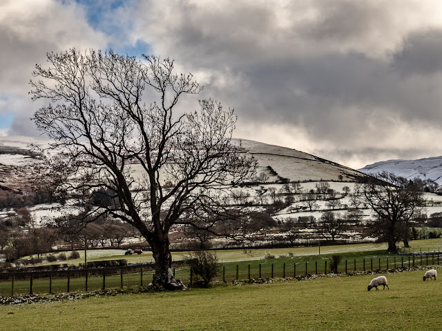Photo of snow on the hills in north Cumbria