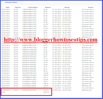 Payment proof, Bidvertiser review, India payment proof