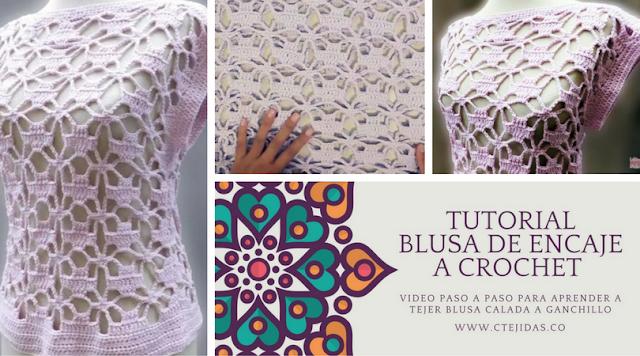 Aprende a Tejer una Blusa de Encaje a Crochet
