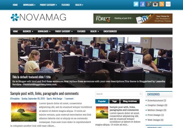 NovaMag Blogger Theme