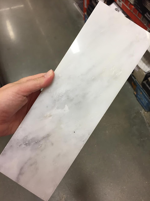 large marble subway tile