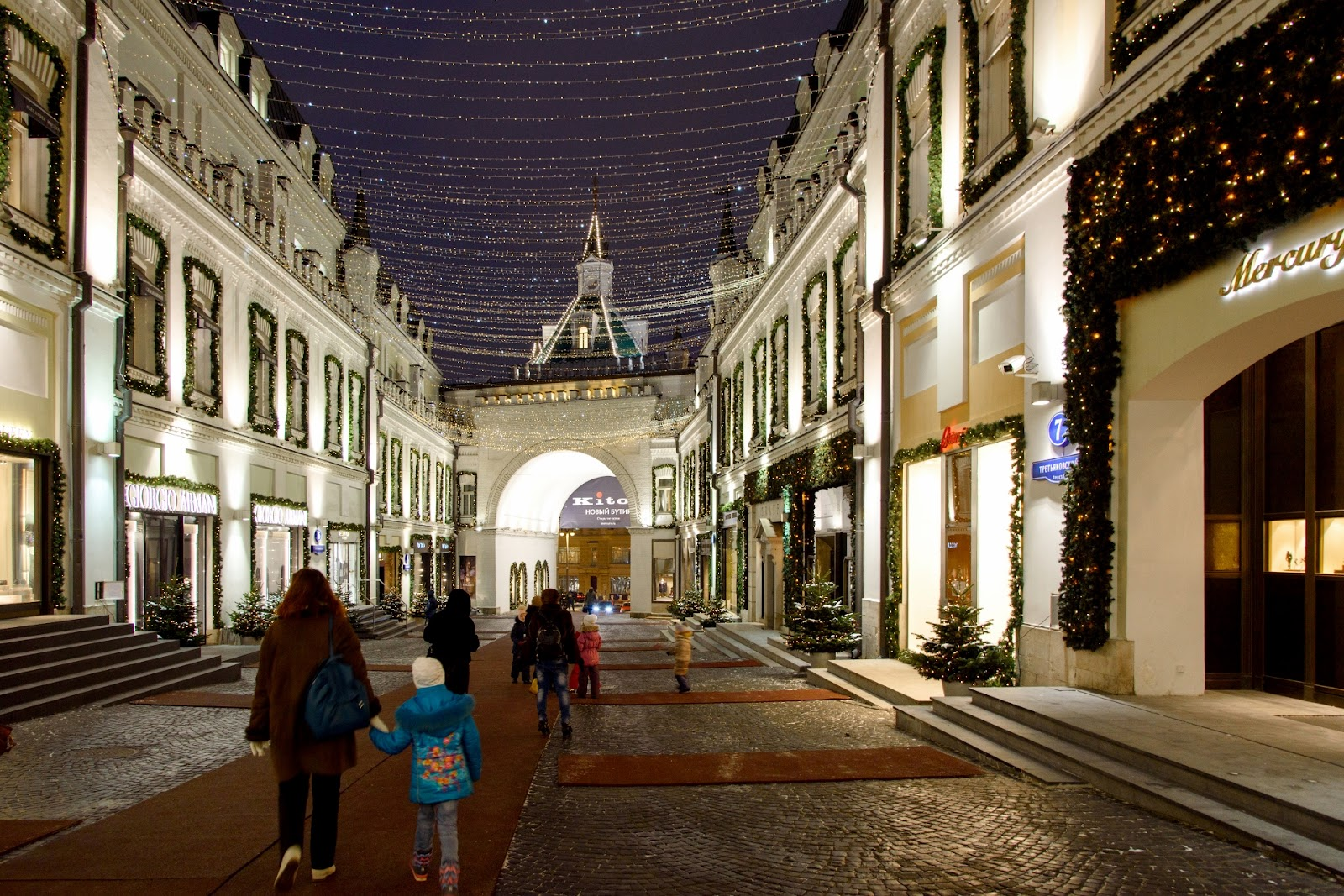 Третьяковский проезд. Новый год