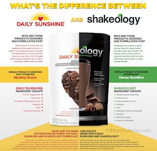 daily sunshine, versus, shakeology, nutrition, kid, smoothie, organic, non gmo