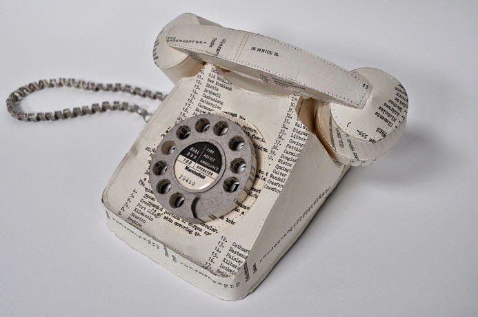 12-Telephone-Jennifer-Collier-Stitched-Paper-Sculptures-www-designstack-co