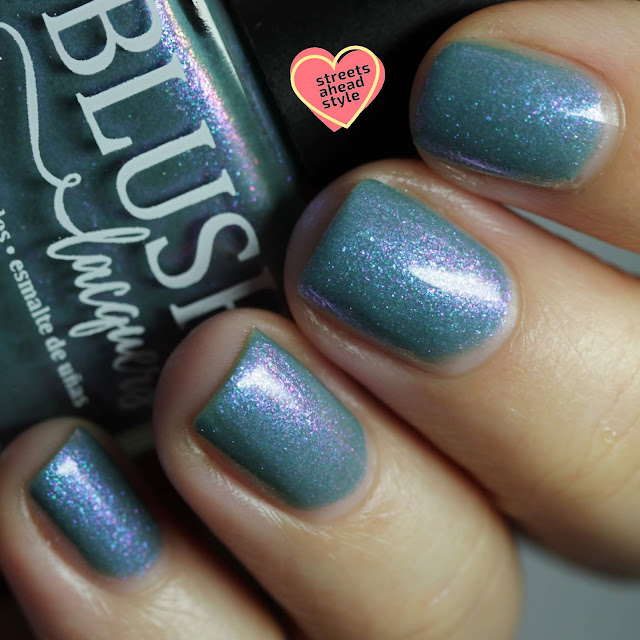BLUSH Lacquers Ocean Moonbeam swatch by Streets Ahead Style