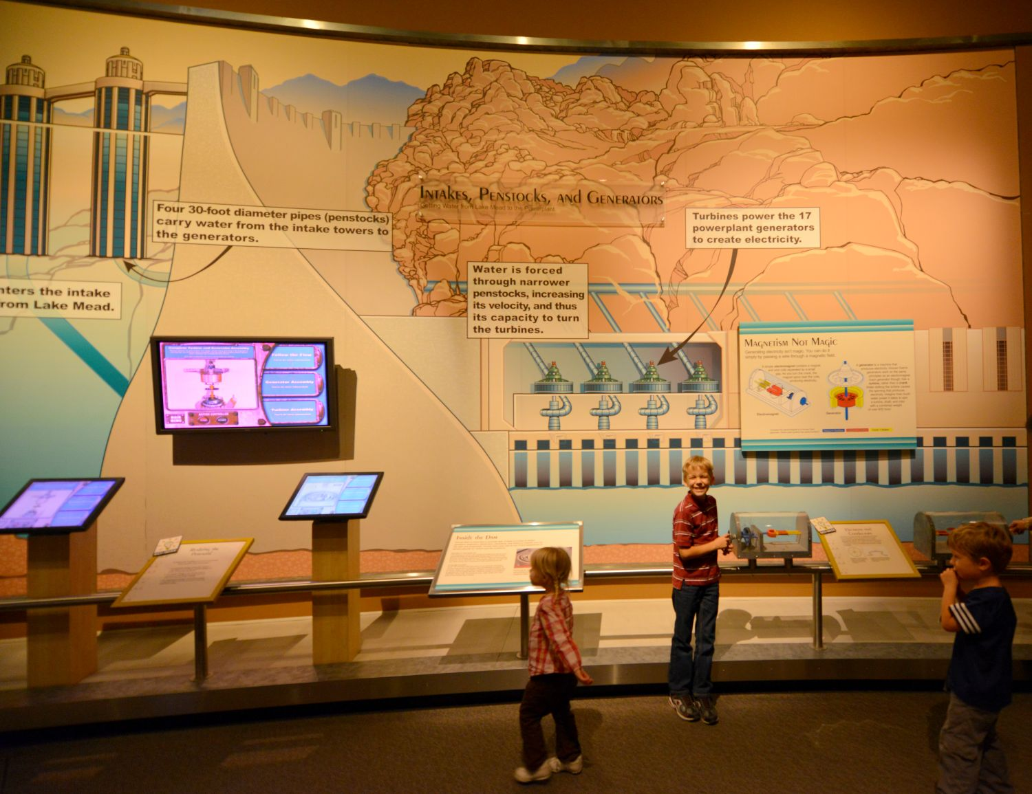 A School Of Fish Hoover Dam Power Plant Diagram Seb Loved This Huge Wall The Path Water Through Powerhouse And Probably Because He Has Drawn Many Similar In His Day