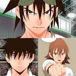 3 Karakter utama di webtoons the God of High School, yaitu Jin Mori, Han Daewi, dan Yoo Mira.