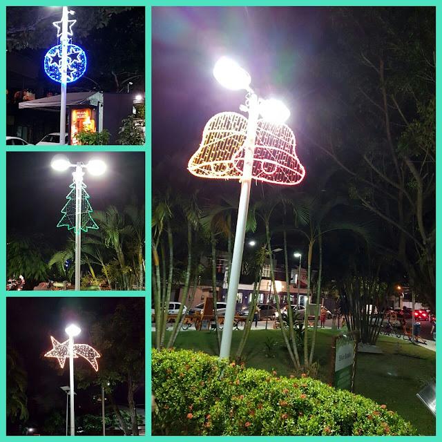Praça Carlos Batalha recebe iluminação natalina