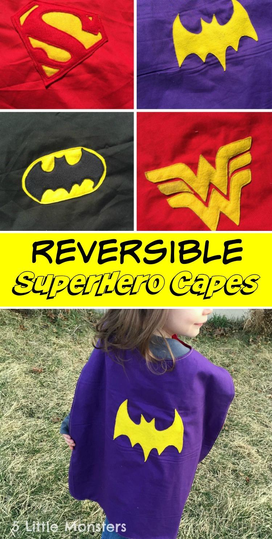 5 Little Monsters: Reversible Superhero Capes