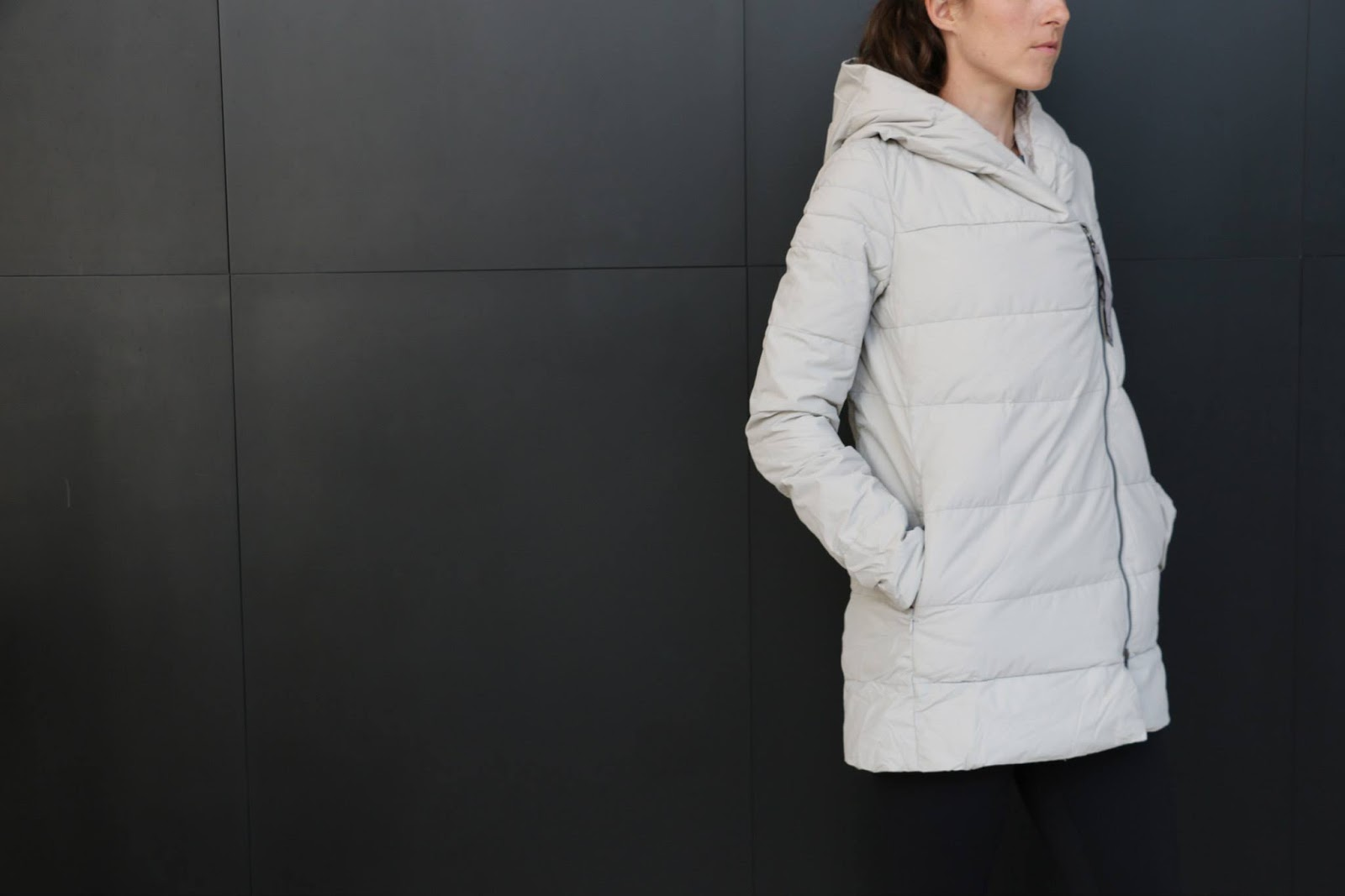 lululemon puffy blanket jacket white