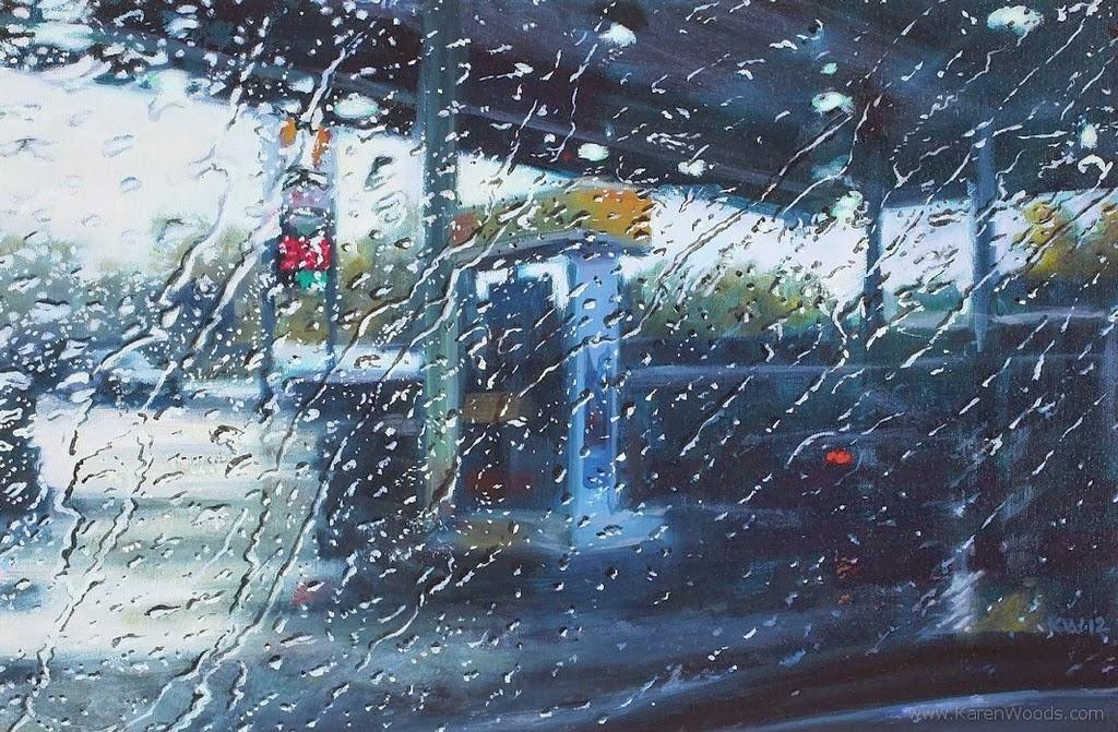 Imágenes Arte Pinturas: Paisajes Urbanos Lluviosos