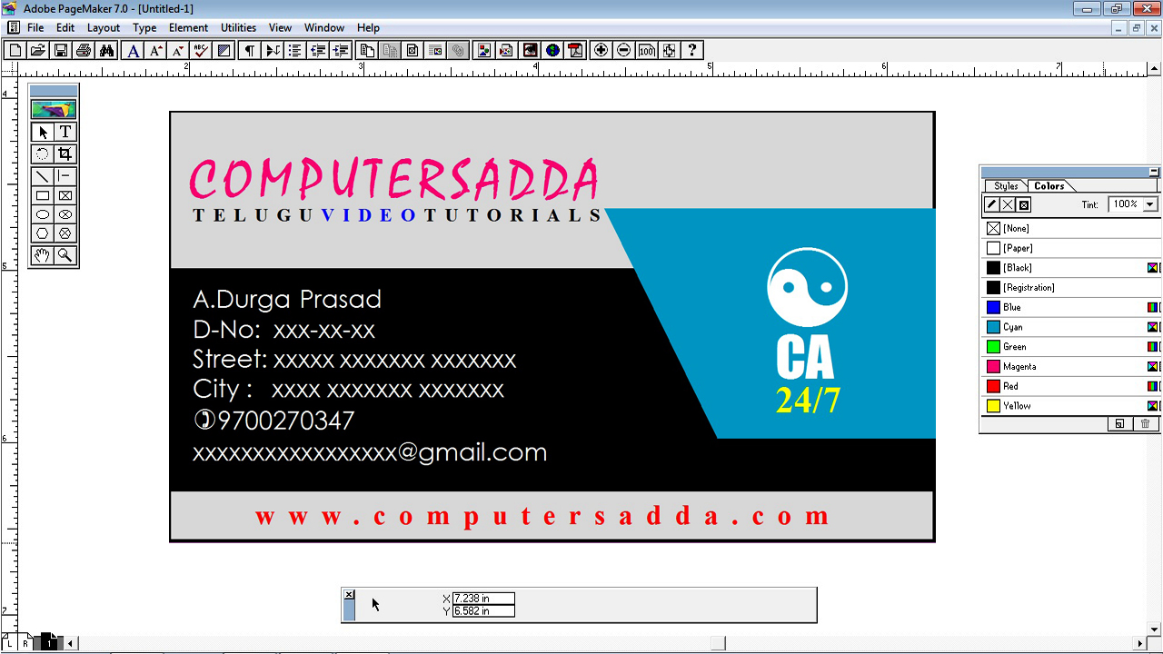 Perfect visiting card design in adobe pagemaker project 1 perfect visiting card design in adobe pagemaker project 1 reheart Choice Image