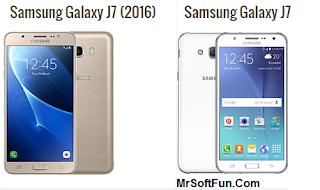 مقارنة بين هاتف Galaxy J7 2016 و Galaxy J7
