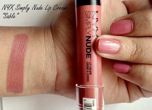 review of NYX lip cream Sable India