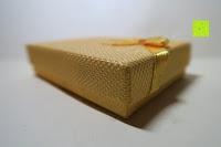 Box: U7 neue Tier Katze Halskettes Anhänger 18 k Gold vergoldet, Strasssteine, Platin-Damen Schmuck