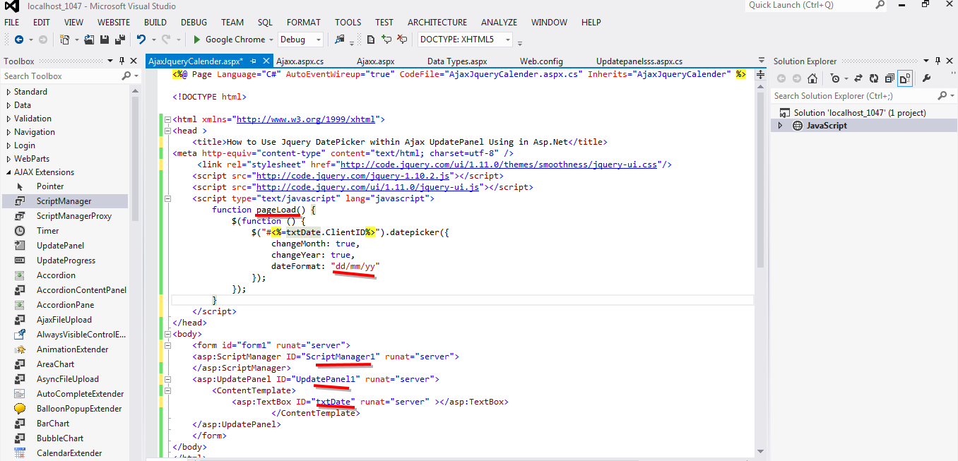 ASP NET,C# NET,VB NET,JQuery,JavaScript,Gridview,SQL Server