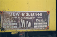 MLW Bombardier plate on PeruRail locomotive