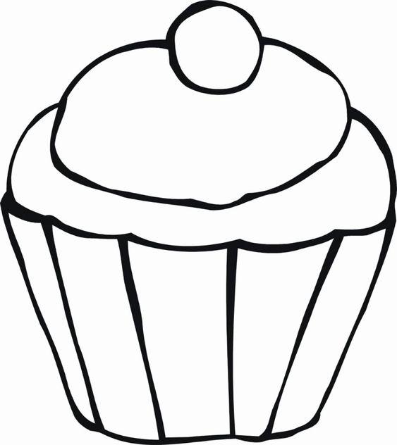 Tranh tô màu cái bánh cho bé ba tuổi