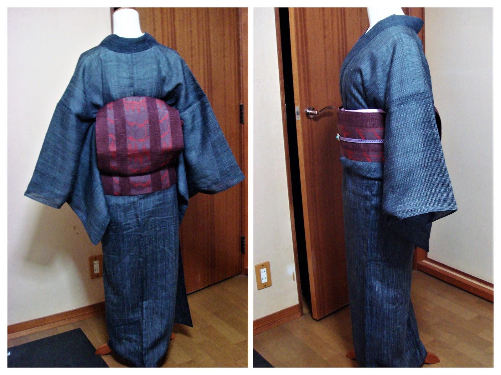 上布の着物にエスニックな麻帯の組み合わせ 50代の普段着物 ...