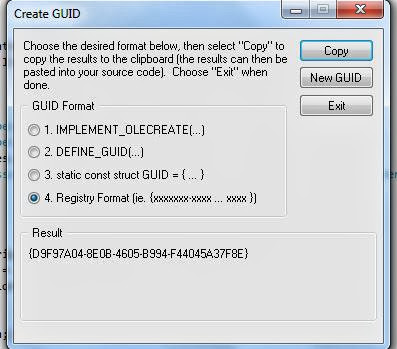 Create GUID