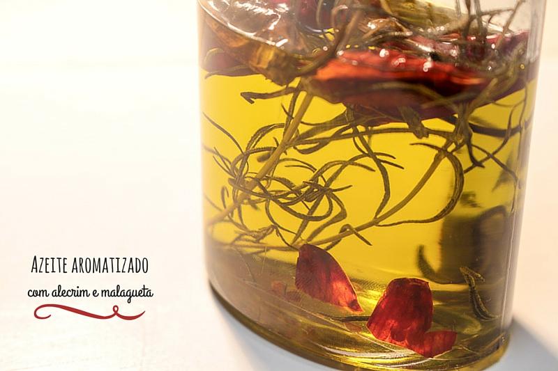 Azeite aromatizado com alecrim e malagueta