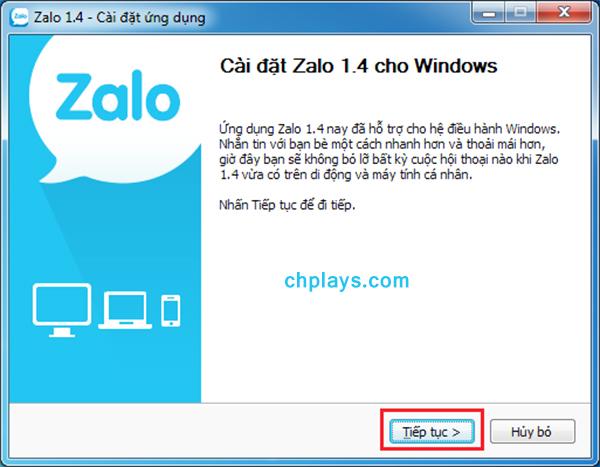 Hướng dẫn cài đặt Zalo trên PC a