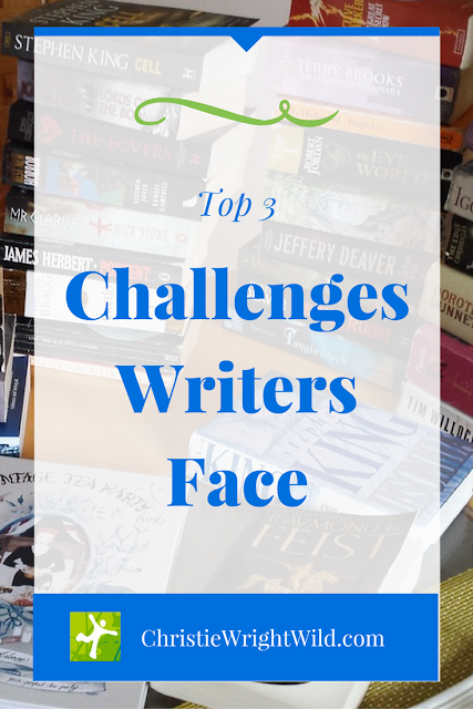 Top 3 Challenges Writers Face | writing tips | author advice | how to grow as a writer