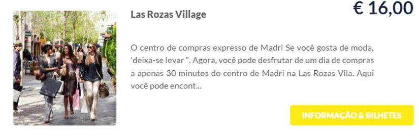 Madri - compre ingressos on-line para as atrações - Las Rozas Village - Ticketbar