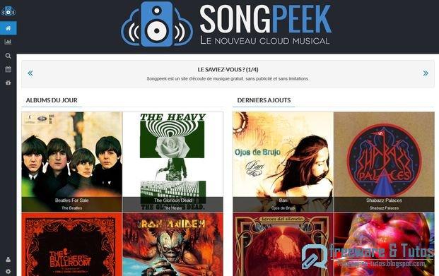 Songpeek : un site d'écoute de musique gratuit et sans pubs