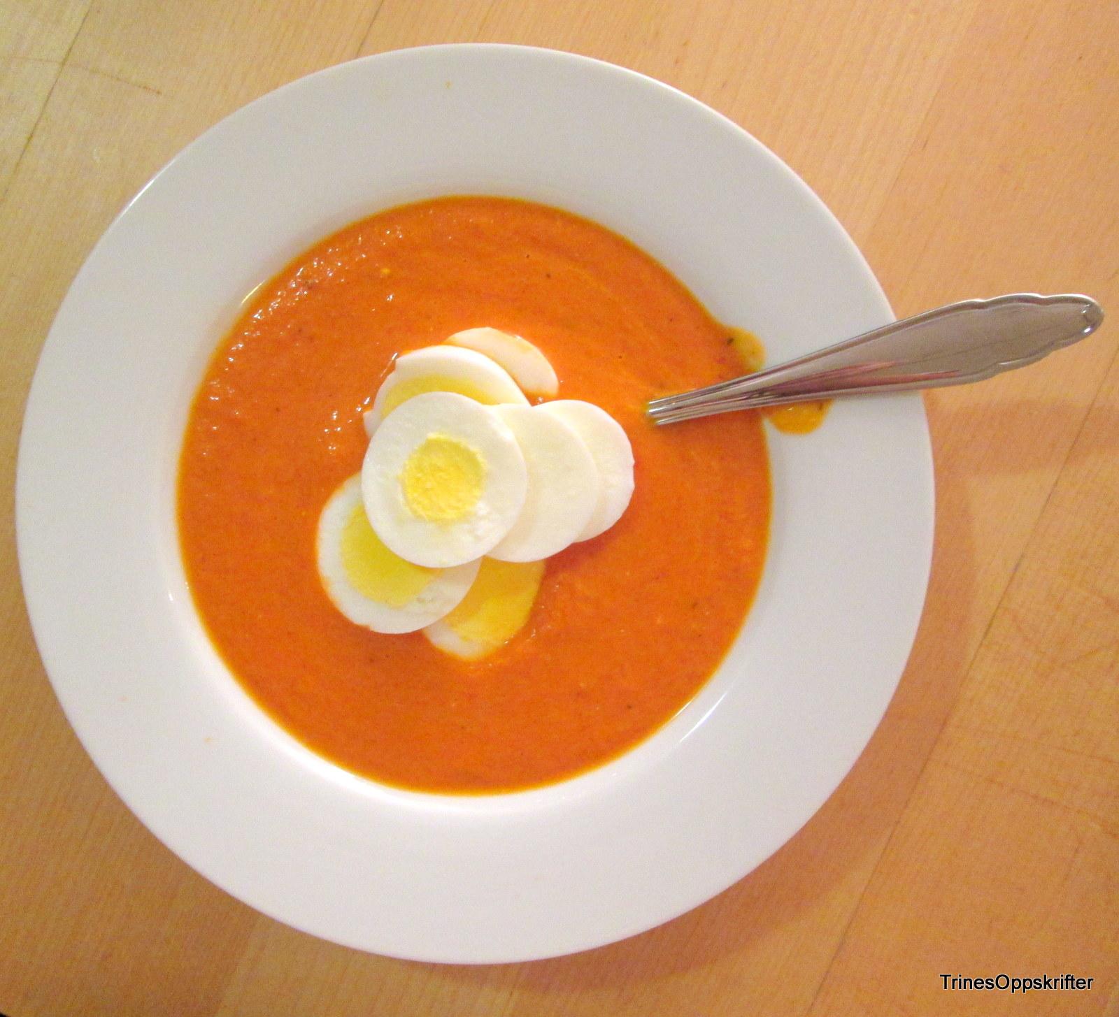 trine og tomatsuppen