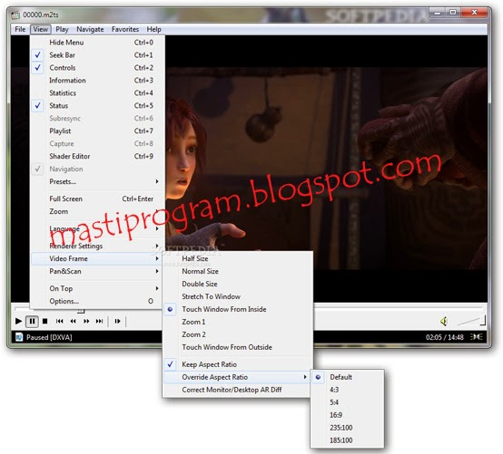 Media Player Classic Home Cinema Masti Program