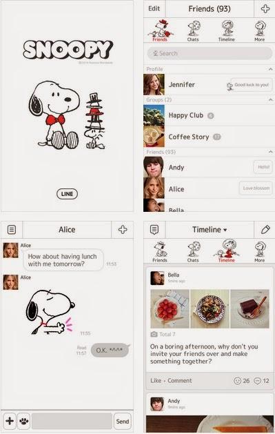 Theme line doraemon android app