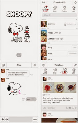 Snoppy Official Tema Line Android