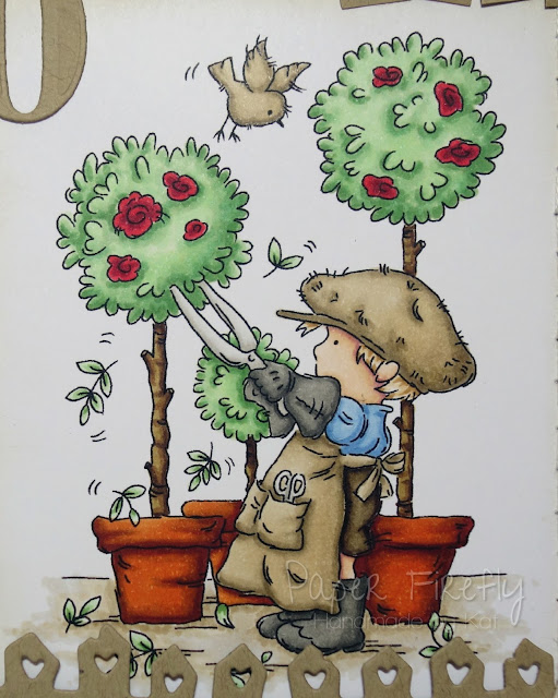 60th birthday card with gardening boy (image from LOTV)