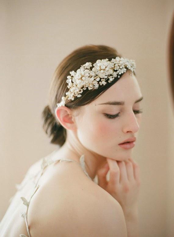 crystal bridal headband