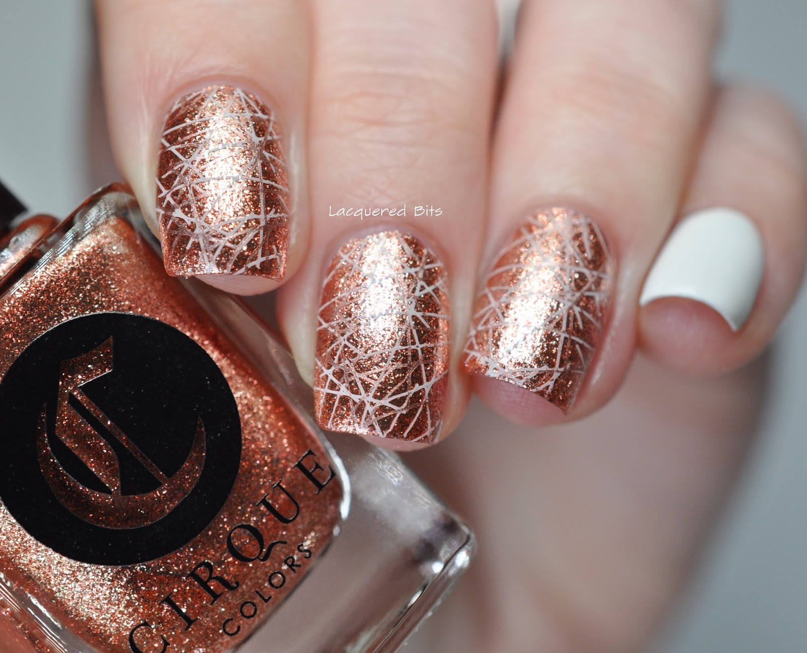 New Year\'s Rose Gold Manicure - Lacquered Bits