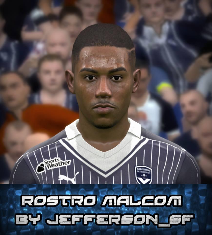 PES 2017 Malcom Face by FaceEditor Jefferson_SF