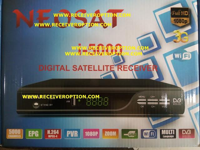 NEOSAT i-5000 HD RECEIVER AUTO ROLL POWERVU KEY NEW SOFTWARE